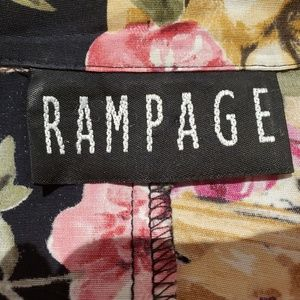 Rampage Tops - RAMPAGE blouse/jacket/top Women Small Black/floral